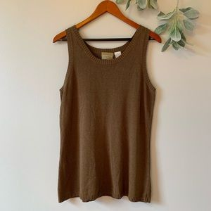 ⭐️ Liz Claiborne Brown Knitted Tank